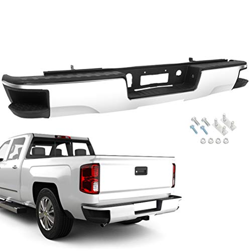 OCPTY Chrome Rear Step Bumper Comes without Parking Sensor Holesfor 2014-2018 for chevy Silverado for GMC Sierra 1500
