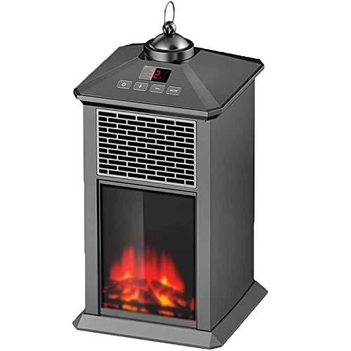 DPGPLP - Calefactor auxiliar portátil de 2 modos de calefacción de escritorio de cerámica silenciosa, 6.69 x 12.99 pulgadas para la oficina y el interior, color negro