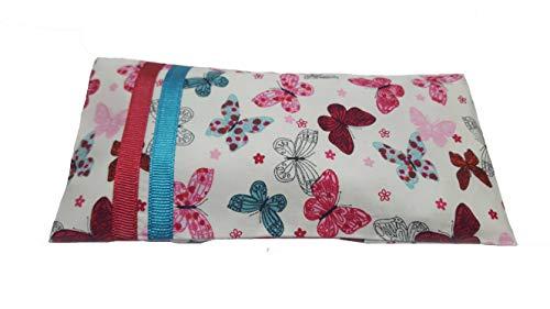Yoga & Mia Butterfly Pattern Scented Lavender Eye Pillow Organic Cotton Meditation Yoga...