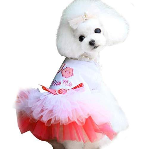 Kiss Me - Vestido para mascotas (rosa, XL)