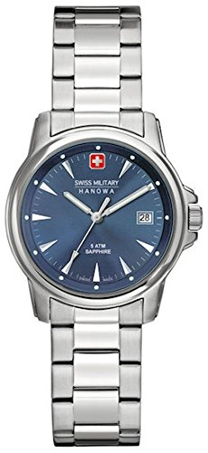 SWISS MILITARY-HANOWA Damen Analog Quarz Uhr mit Edelstahl Armband 06-7230.04.003
