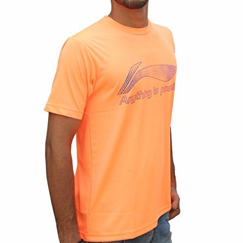 Li-Ning Round Neck T-Shirt STR-1 Orange Small