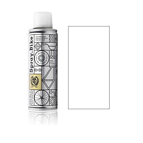 SPRAY.BIKE Fahrrad Lackspray - für detailreiche Arbeiten wie Linien, Schablonen oder kleine Bereiche - Pocket SOLID Kollektion in der praktischen 200ml Dose (Weiß)