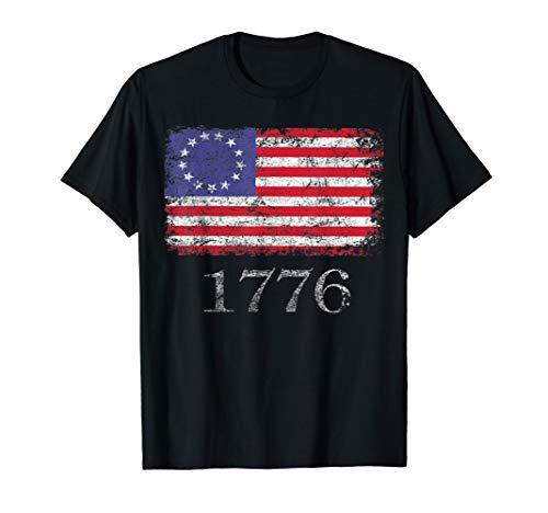 Betsy Ross Shirt 4th Of July American Flag Tshirt 1776 Retro T-Shirt