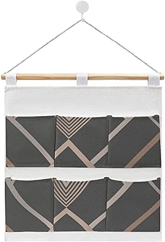 Bolsa de almacenamiento para colgar ropa, bolsas de almacenamiento geométricas de carbón en la puerta y el armario, organizador para colgar bolsas de almacenamiento para dormitorios y baños