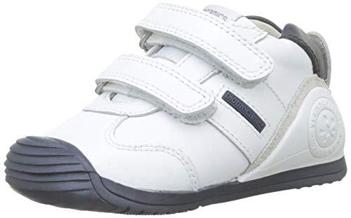 Biomecanics 151157, Zapatos de primeros pasos Unisex Bebés, Blanco (Blanco/Azul/Sauvage), 19 EU