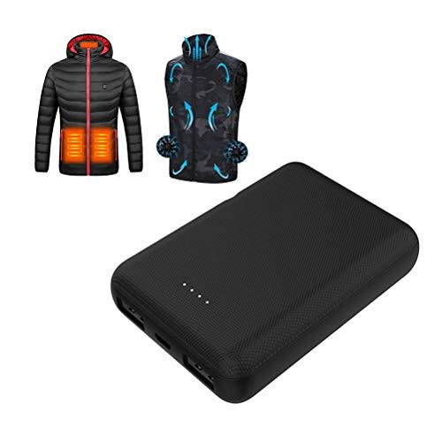 DUOCACL Banco de energía portátil, para Calentar Ropa, batería Externa de Gran Capacidad de 10000 mAh, Cargador USB, Apto para Todos los Chalecos calefactores de 5 V, Chaqueta