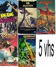 godzilla set 5 pack: Rodan (1957), King Kong Vs. Godzilla (1963), Godzilla's Revenge (1971), Godzilla vs. Mothra, Godzilla Vs Sea Monster
