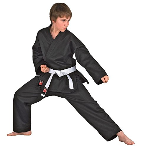 DANRHO Karate Anzug 'Dojo Line', Schwarz...