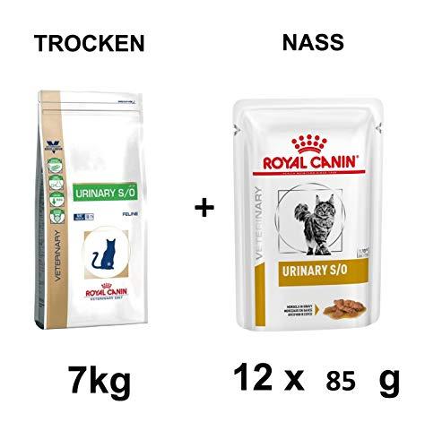 ROYAL CANIN Urinary S/O Katze Trockenfutter 7kg + 12x85g Nassfutter