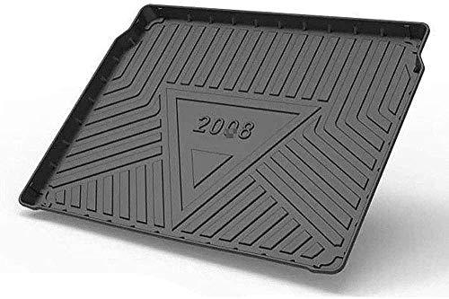 Coche Goma Alfombrillas Para Peugeot 2008 2020, Coche Arranque Impermeable Interior Maletero Antideslizante Impermeable