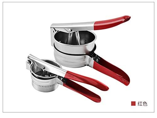 Exprimidor De Acero Inoxidable, Exprimidor Manual, Vegetales, Limón, Exprimidor De Frutas, Triturador De Ajo, Prensa De Patatas Rojo-S