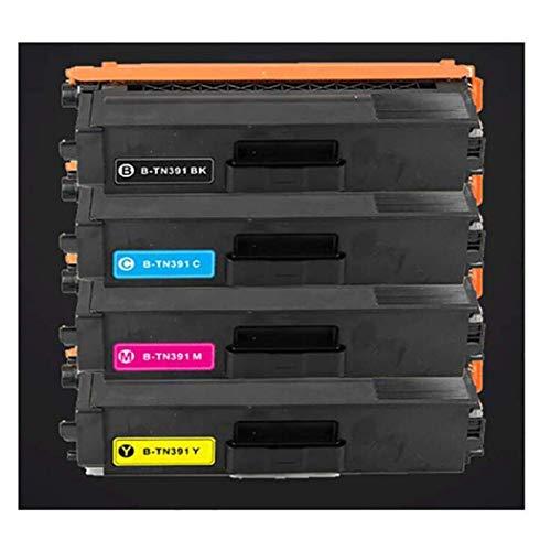 Compatible con el hermano TN391BK TN391C TN391M TN391Y Caja de tóner para su hermano L8250CDN / L8350CDW / L8400CDN / L8600CDW / L8850CDW Impresora de color 4colors