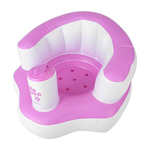 Sofá de silla inflable saludable, para no dañar los huesos Sofá de baño, para baño en casa(Pink)