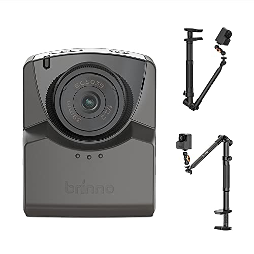 Brinno BAC2000 BARD Creative Kit - Time Lapse Camera TLC2020 con Morsetto Creativo ACC1100, Monopiede, Supporto per Smartphone e Custodia per il Trasporto, Nero