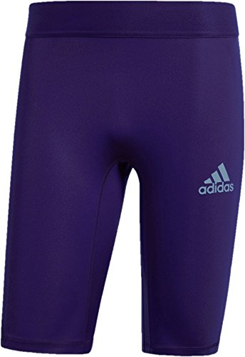 adidas Alphaskin Sport - Pantaloncini Aderenti da Allenamento da Uomo, Uomo, Aderente, SMSUS18USTFSHT, Collegiate Viola, XXL