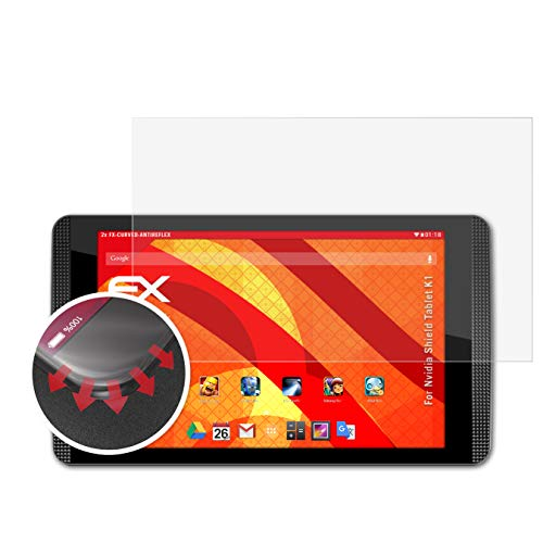 atFolix Schutzfolie kompatibel mit Nvidia Shield Tablet K1 Folie, entspiegelnde & Flexible FX Bildschirmschutzfolie (2X)