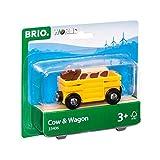 BRIO Bahn 33406 - Tierwagen mit Kuh -