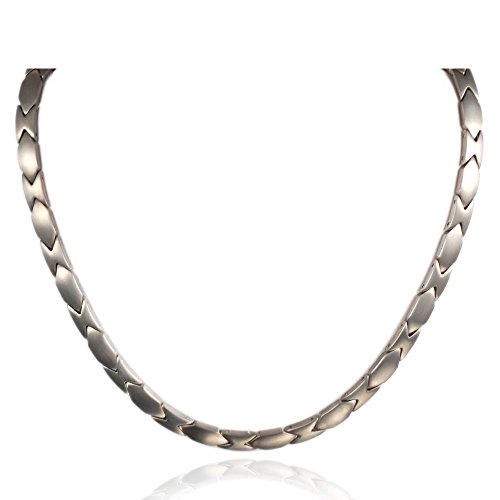 Wollet Magnetic Titanium Necklace Hematite Women Men Jewelry 21''/6MM