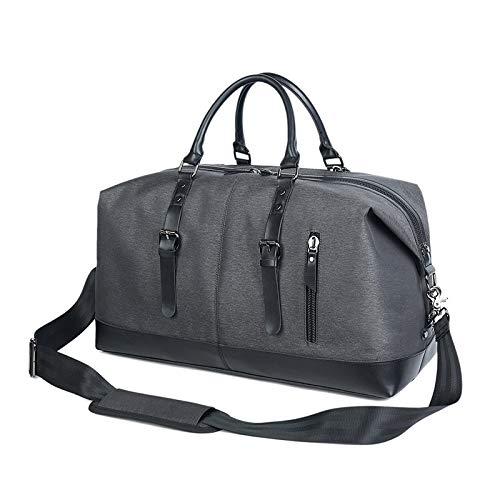 Weekender Bag for Men, Large Capacity Travel Holdall Portable Weekend Satchel Totes Bag 50L Handbags Hospital Bag Overnight Fashion Shoulder Bag for Business Trip Travel Baggage Oversized Bag for Gym