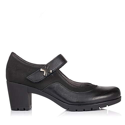 PITILLOS 3960 Zapato Pulsera Piel Tacon Mujer Negro 39