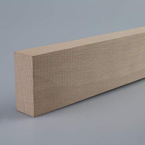 Rechteckleiste Bastelleiste Abschlussleiste aus unbehandeltem Buche-Massivholz 1000 x 20 x 44 mm