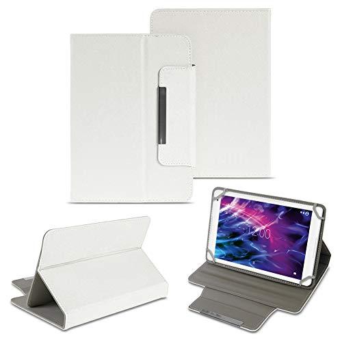 NAUC Tablet Tasche Hülle Schutzhülle Medion Lifetab E7331 P7332 7331 Hülle Cover, Farben:Weiss