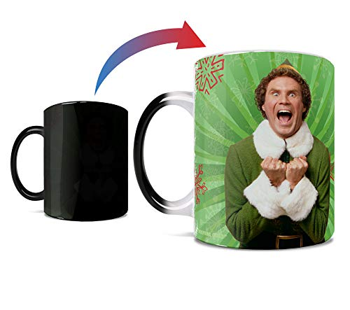 Elf – World's Best Cup of Coffee - One 11 oz Morphing Mugs Color Changing Heat Sensitive Ceramic Mug – Image Revealed When HOT Liquid Is Added!