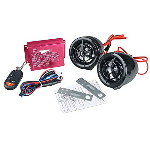 XKSO-QPTY Altavoz Bluetooth De Sonido Remoto inalámbrico Motocicleta Altavoces de Coche FM Radio USB SD Sistemas de Alarma de Altavoz Motor antirrobo MP3 Vocero