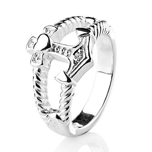 Heartbreaker Ring mit Zirkonia in Echtsilber | Kollektion Glaube & Liebe Hoffnung | Bandring aus 925 Sterlingsilber |Ring für Damen