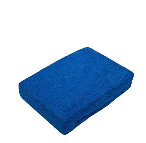 EXKLUSIV HEIMTEXTIL Frottee Spannbettlaken Premium Marke 180-200 x 200 cm Royalblau