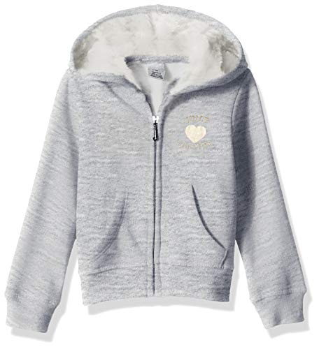 Juicy Couture Girls' Little Hoody, Gray, 6X