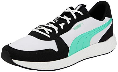 PUMA NRGY Neko Retro, Zapatillas de Running para Hombre, Negro Black White/Green Glimmer, 42 EU