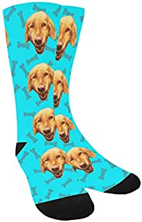 Custom Dog Photo Socks - ANY Backgroung, Your Dog's Face on Customized Socks, Picture Print Socks, Dog Lovers, Personalized Image Design