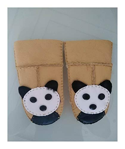 Warme Handschuhe Kinder-Schaffell-Handschuhe Pelz Thincken Fäustlinge Kinder nett echtes Leder Handschuhe aus Wolle gefüttert 2018 Winter warme Handschuhe ( Color : Gold , Gloves Size : One Size )