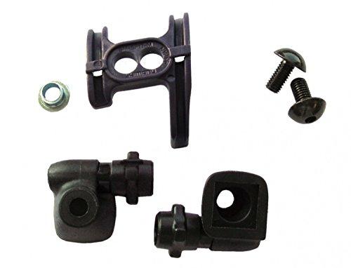 Shimano Unisex– Erwachsene Gegenhalter-2091197000 Gegenhalter Set, schwarz, One Size