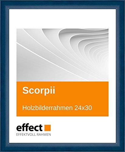 Effect Bilderrahmen Scorpii Blau Bilderrahmen Holz 24x30 Antireflexglas mit Rückwand