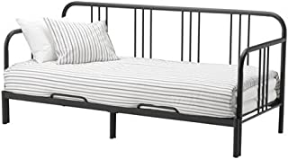 Ikea Daybed with 2 mattresses, Twin size, black, Meistervik firm 10204.1122.2230