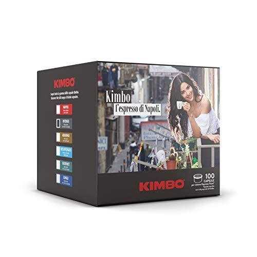 Kimbo Capsule di Caffè Intenso, Compatibile con Lavazza Espresso Point, 100 Capsule