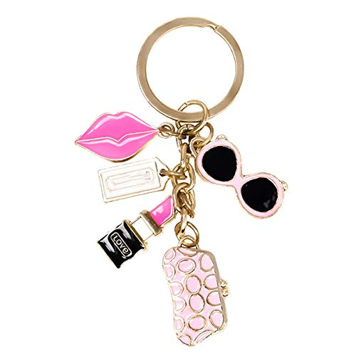 Youydy Exquisite Keychain,glasses Wallet Lipstick Lips Accessories...