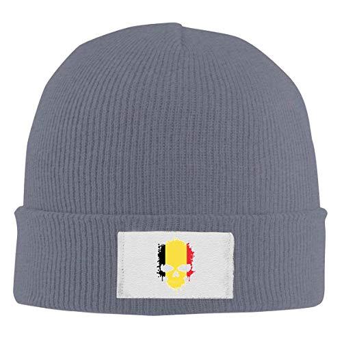 Lawenp Sombrero hecho punto 100% polister unisex, crneo de Blgica de la moda