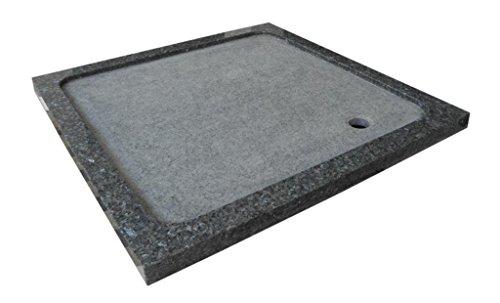 Duschwanne aus Naturstein, Duschtasse, Granit, 90*90cm, Pearl Blue