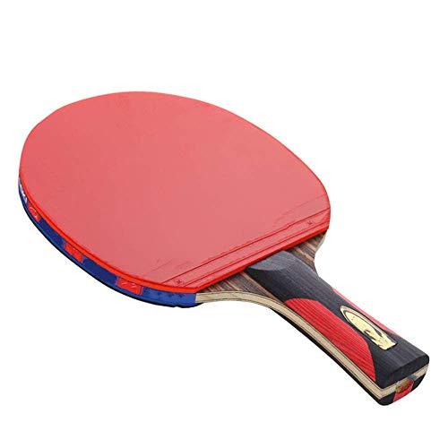 JIANGCJ bajo Precio. Ping Pong Paddle Tenis Raqueta Piso All-Round Racket Light Body Body Artículos Deportivos Sacude Hands Hands Hands (Color : Multicolored, Size : 15x24cm)