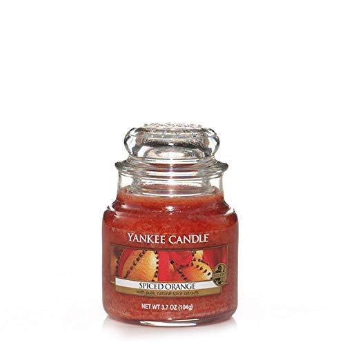 Yankee Candle Spiced Orange Vela Aromática en Frasco Pequeño, Naranja, 104g