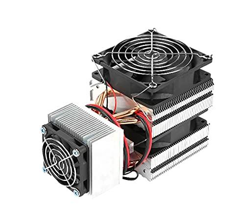 YEZIO Bricolaje Equipo, DC12V 20A 180W DIY Radiador refrigerante, refrigerante refrigerado por Aire, semiconductor Mini acondicionador de Aire