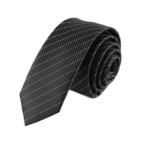 Neckties Lazos largos para hombre delgados de seda de poliéster negro a cuadros rayas lunares jacquard estrecho 5 cm corbata cuello corbata fiesta