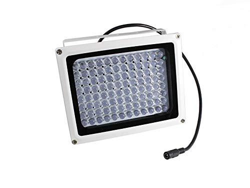 Vetrineinrete® Illuminatore a infrarossi per telecamera 96 led max 80 metri lampada led a visione notturna da videosorveglianza con staffa di fissaggio forata A13