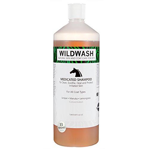 Wildwash huisdier medicated paard shampoo 1 liter
