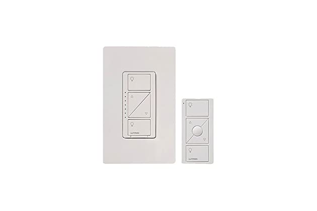 Lutron Caseta Wireless Smart Lighting Dimmer Switch and Remote Kit for Wall & Ceiling Lights, P-PKG1W-WH, White, Works with Alexa, Apple HomeKit, ...