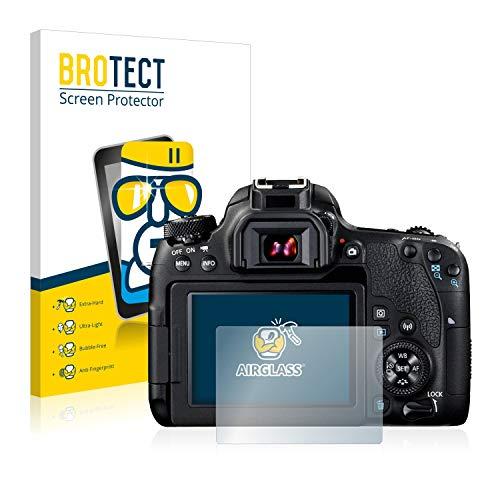 BROTECT Panzerglas Schutzfolie kompatibel mit Canon EOS 77D - AirGlass, 9H Härte, Anti-Fingerprint, HD-Clear